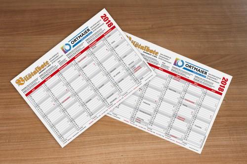 Handkalender - Gestaltungsservice