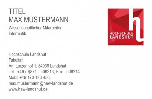 Visitenkarte Hochschule Landshut