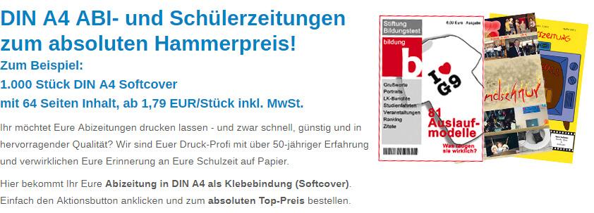 Abizeitung zum Top-Preis