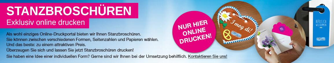 Jetzt Stanzbroschüren Online drucken!