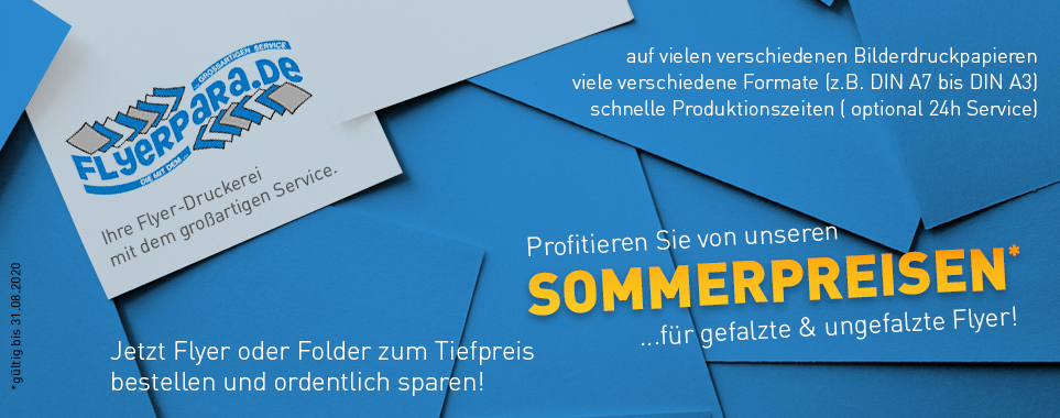 Sommeraktion - Flyer ungefalzt